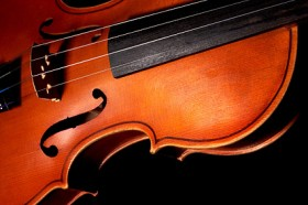 Violin close up picture material