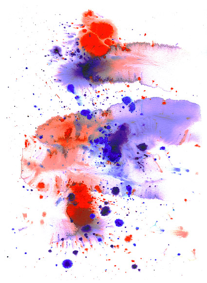 GoMedia produced watercolor ink picture material  021