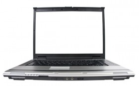 Laptop blank screen high definition picture