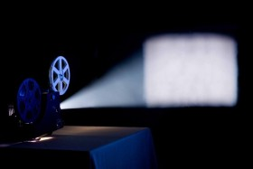 Movie projector projection picture material