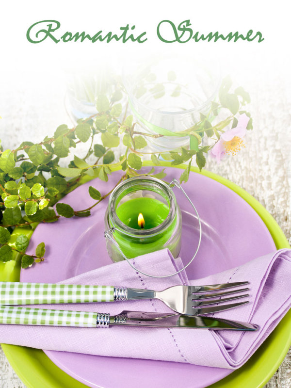 Pastoral style tableware Image 04   HD Images