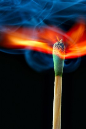 The matches ignite the instant 01   HD Images