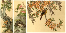 World famous decorative painting: flowers bird Hawthorn egrets