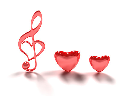 3D heart shaped notes Images