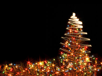 A flash Christmas Tree picture material