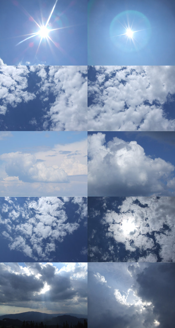 Blue sky with white clouds high definition picture