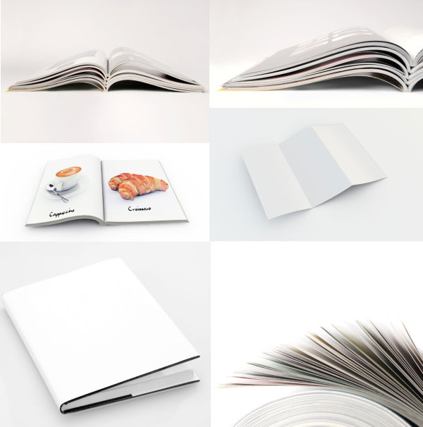 Books folding effect diagram template HD picture
