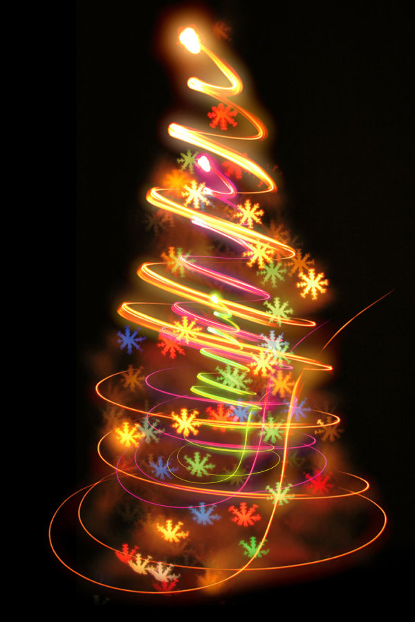 Bright halo Christmas tree 02   HQ Pictures