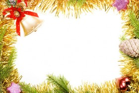 Christmas decorative border picture material