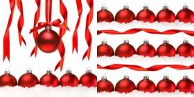 Christmas ribbon hanging ball HQ Pictures