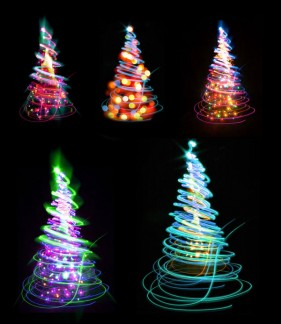 Glare Christmas tree HD picture