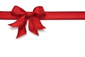 Images of red ribbon bow