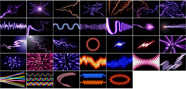 Lightning material   photoelectric HD Images