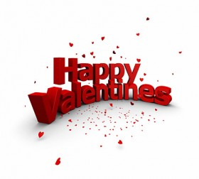 Of 3D Happy Valentine dimensional character modeling picture