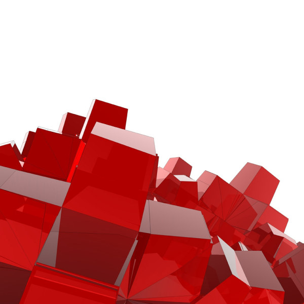 Red 3D cube HD picture