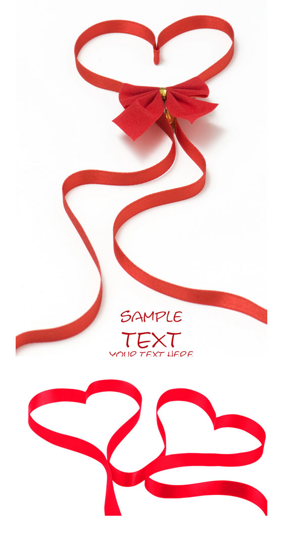 Red Love Ribbon HD picture (2 Pics)