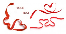 Red love ribbons HD picture