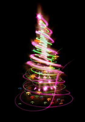 The bright halos Christmas tree 01   HD Pictures