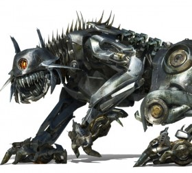 Transformers 2 high precision original poster: Decepticon the Decepticon robot dog Ravage