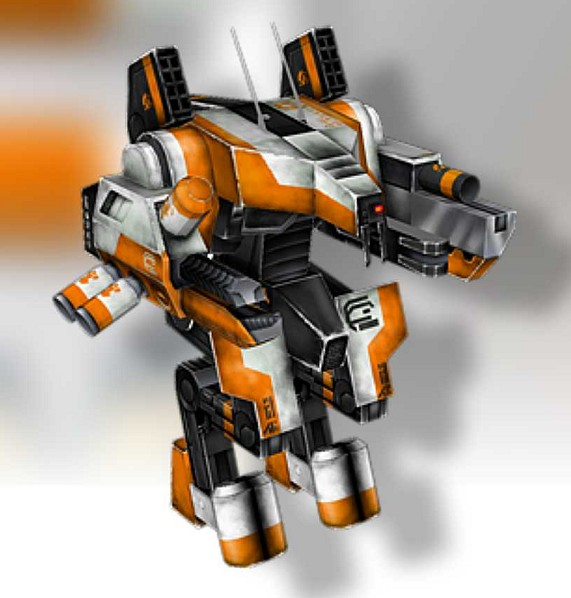 9th district the Battle Mech Papercraf molded paper