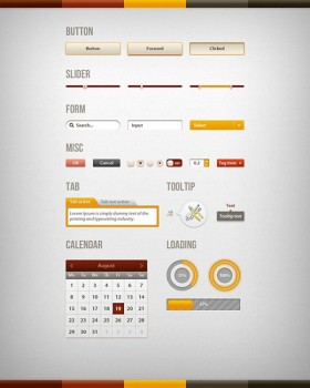 A fine page elements psd layered material