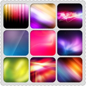 Brilliant HD colorful high light background picture material