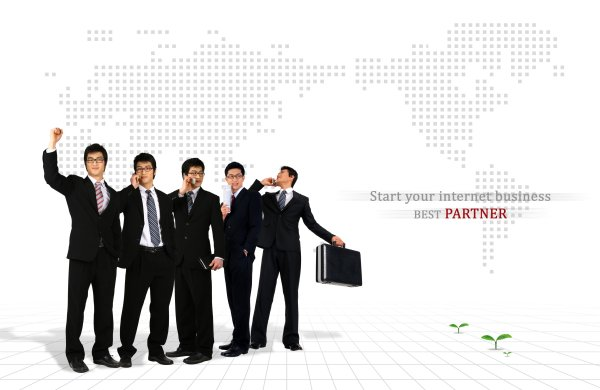 Business people psd layered material