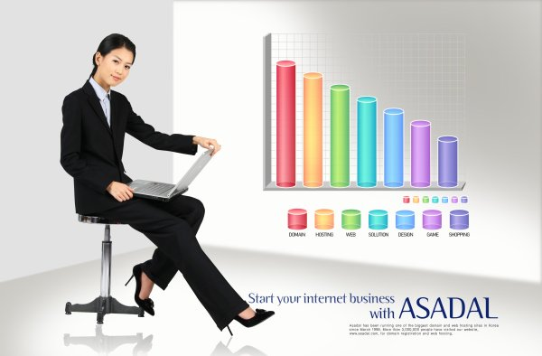 Business persons data chart PSD layered material  5