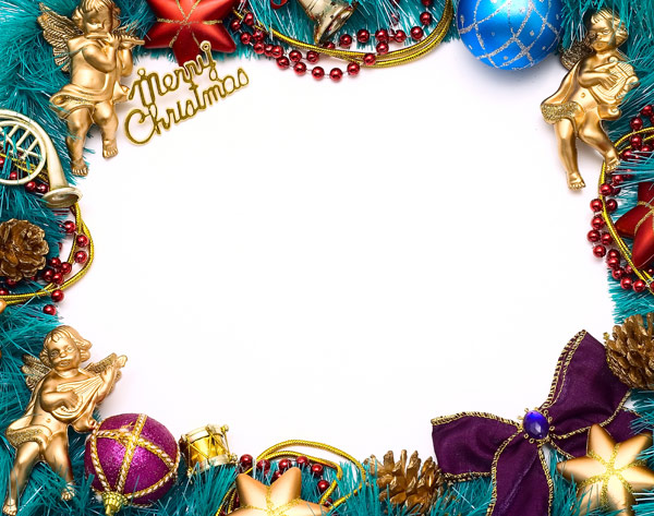 Christmas ornaments border   high definition picture