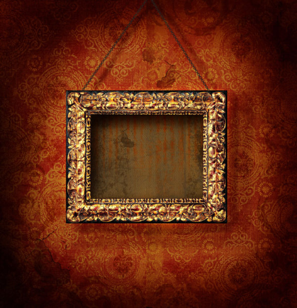 Classical wooden photo frame 01   HQ Pictures