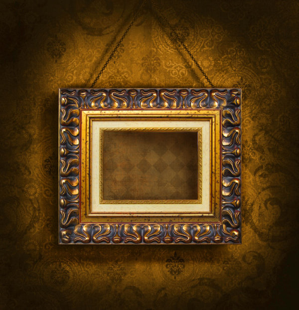 Classical wooden photo frame 02   HQ Pictures