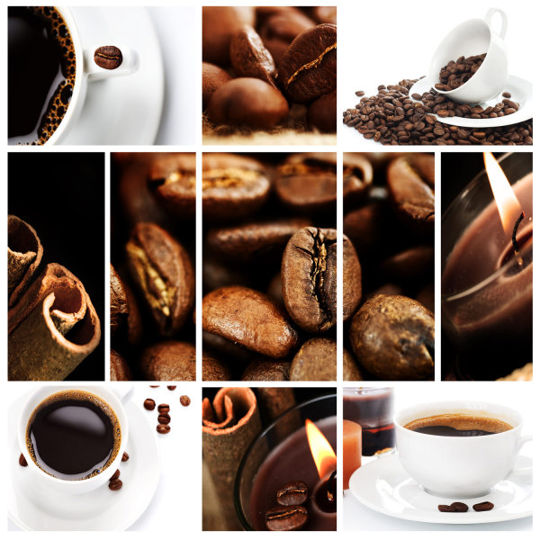 Coffee and coffee beans   high definition picture