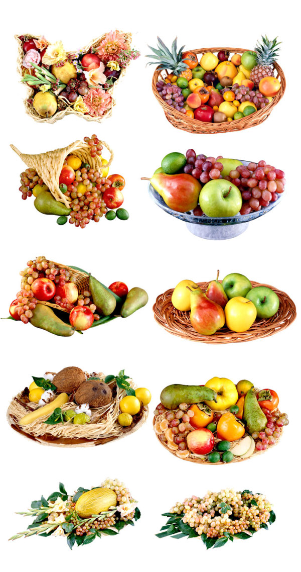 Delicious fruit fruit baskets PNG Images