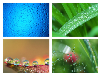 In water droplets clip 01