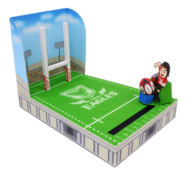 Of rugby shooting game   paper mold