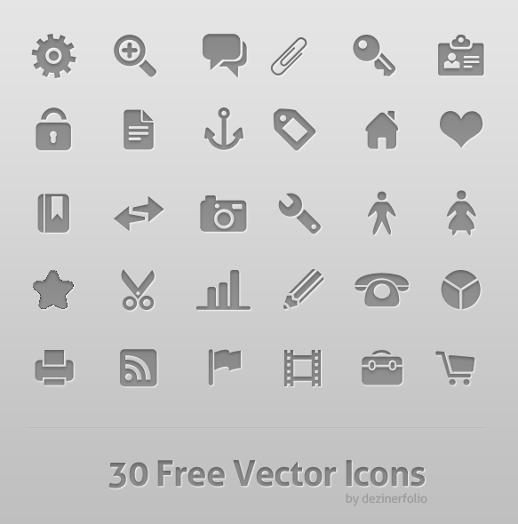 30 Free Vector icon psd layered
