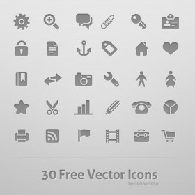 30 models gray texture icon PSD