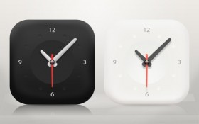 A minimalist clock icon psd layered material