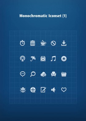 A monochromatic small icon   PSD layered material