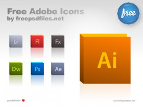 Adobe software icon psd layered material