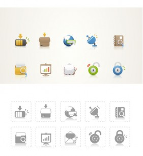 Beautiful icon psd layered material