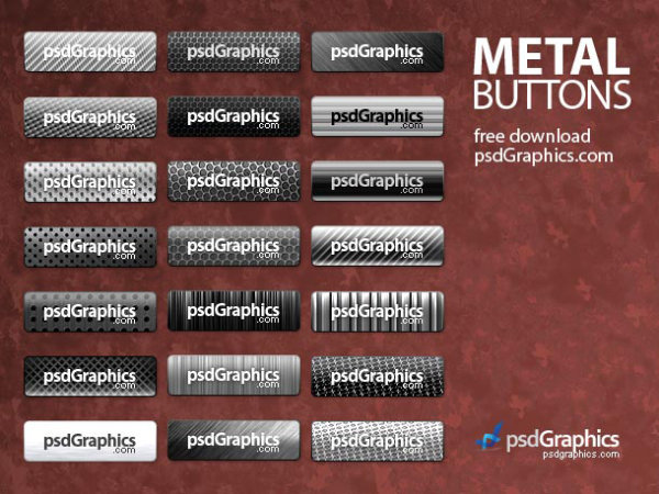 Beautifully exquisite metal button   psd layered material
