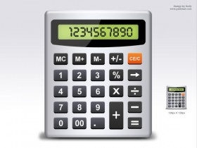 Calculator icon psd layered material