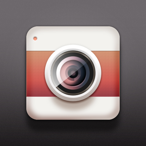 Camera IOCN psd layered material