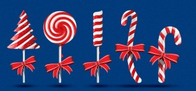 Christmas Candy PSD Graphics