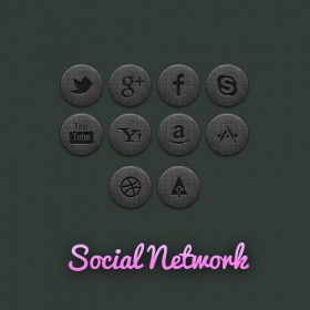 Community Social Network icon psd layered material