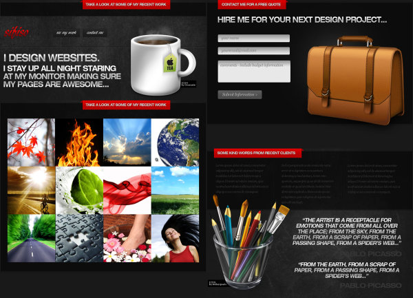 Concise picture shows page templates   Psd layered material