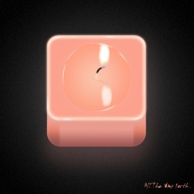 Copying candle light table PSD layered
