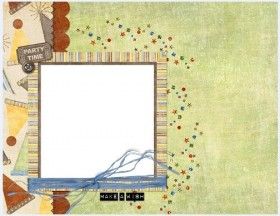 Cute collage style photo frame  2