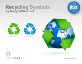 Cycle icon psd layered material